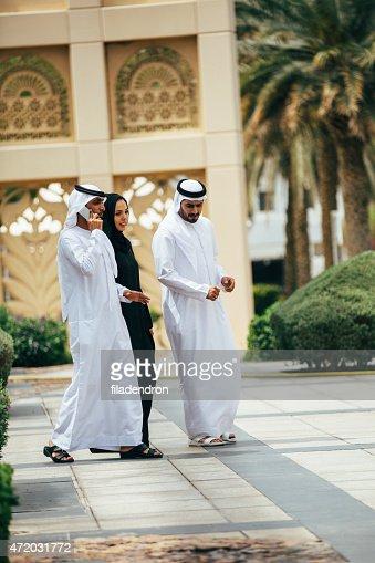 Emirati outdoors business meeting