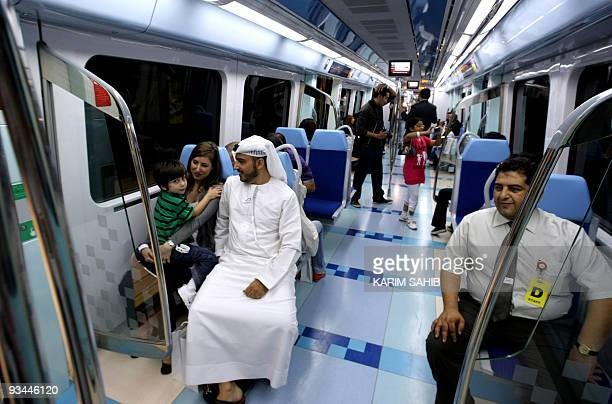 Emiratis take the first metro ride in Dubai following the official opening of the Gulf emirate's metro network on September 9 2009 Dubai opened a...