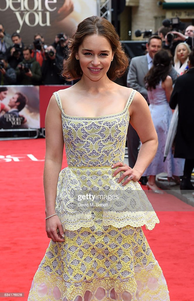 Emlia Clarke attends the European Premiere of 'Me Before You' at The Curzon Mayfair on May 25, 2016 in London, England.