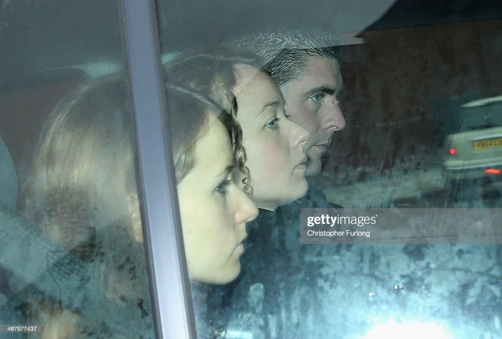 Emma (L) and Kerry Maguire (C), the daughters of murdered teacher Ann Maguire, arrive at Leeds Youth Court as a pupil of Corpus Christi Catholic College appears at Leeds Youth Court and was remanded in custody charged with Mrs Maguire's murder on May 1, 2014 in Leeds, England. A fifteen year old male student has been arrested and charged with the murder of teacher Ann Maguire, 61, who died from multiple stab wounds after the attack in her classroom at Corpus Christi Catholic College.