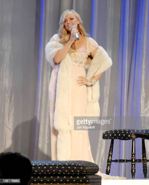 Emma 'Baby Spice' Bunton of Spice Girls performs at the 12th Annual Victoria's Secret Fashion Show at the Kodak Theatre on November 15 2007 in...