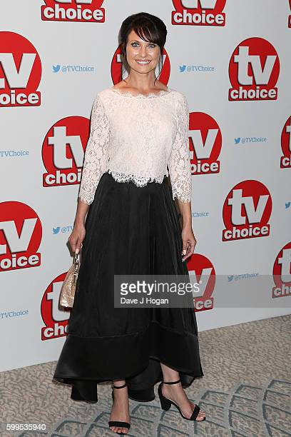 Emma Barton arrives for the TVChoice Awards at The Dorchester on September 5 2016 in London England