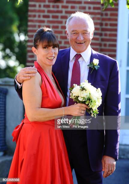 Emma Beal and Ken Livingstone at London Zoo where their wedding ceremony was held at the Mappin Pavilion