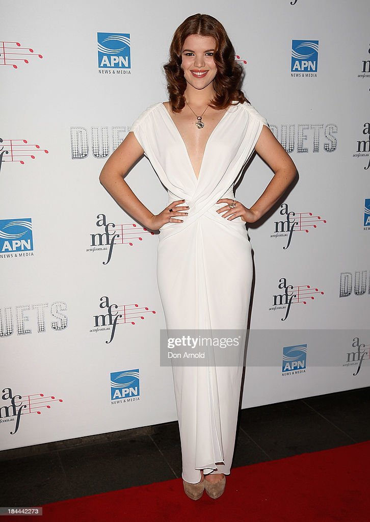 Emma Birdsall poses at the 4th Annual Duets Gala concert at the Capitol Theatre on October 14, 2013 in Sydney, Australia.