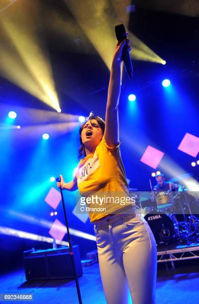 Emma Blackery performs on stage at the O2 Shepherd's Bush Empire on June 4 2017 in London England