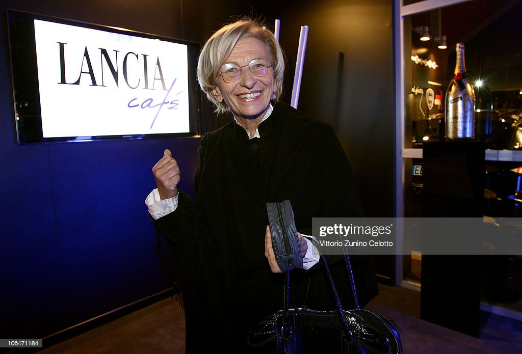 <a gi-track='captionPersonalityLinkClicked' href=/galleries/search?phrase=Emma+Bonino&family=editorial&specificpeople=539913 ng-click='$event.stopPropagation()'>Emma Bonino</a> attends the Lancia Cafe during the 5th Rome International Film Festival on November 2, 2010 in Rome, Italy.