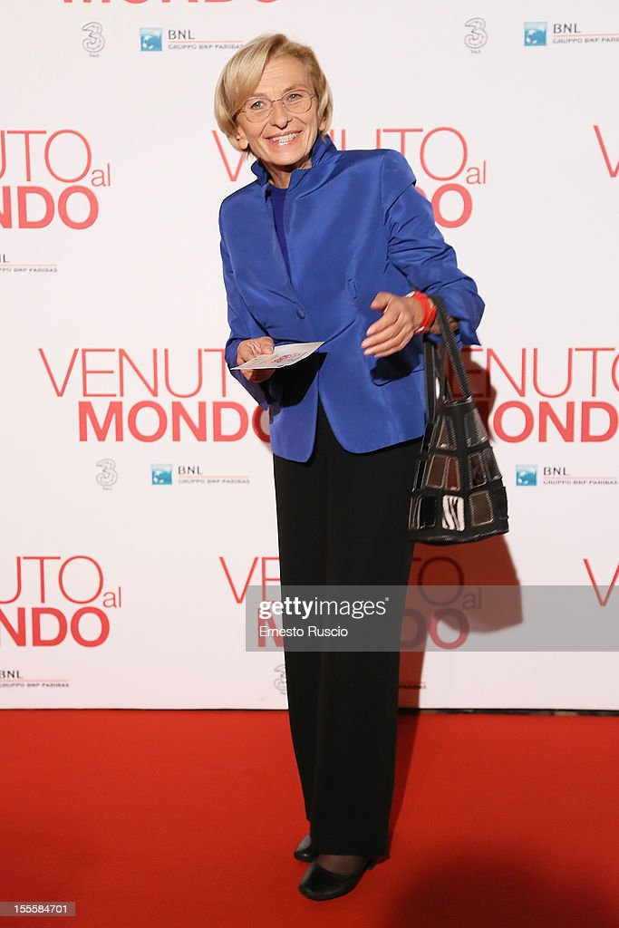 <a gi-track='captionPersonalityLinkClicked' href=/galleries/search?phrase=Emma+Bonino&family=editorial&specificpeople=539913 ng-click='$event.stopPropagation()'>Emma Bonino</a> attends the 'Venuto Al Mondo' premiere at The Space Moderno on November 5, 2012 in Rome, Italy.