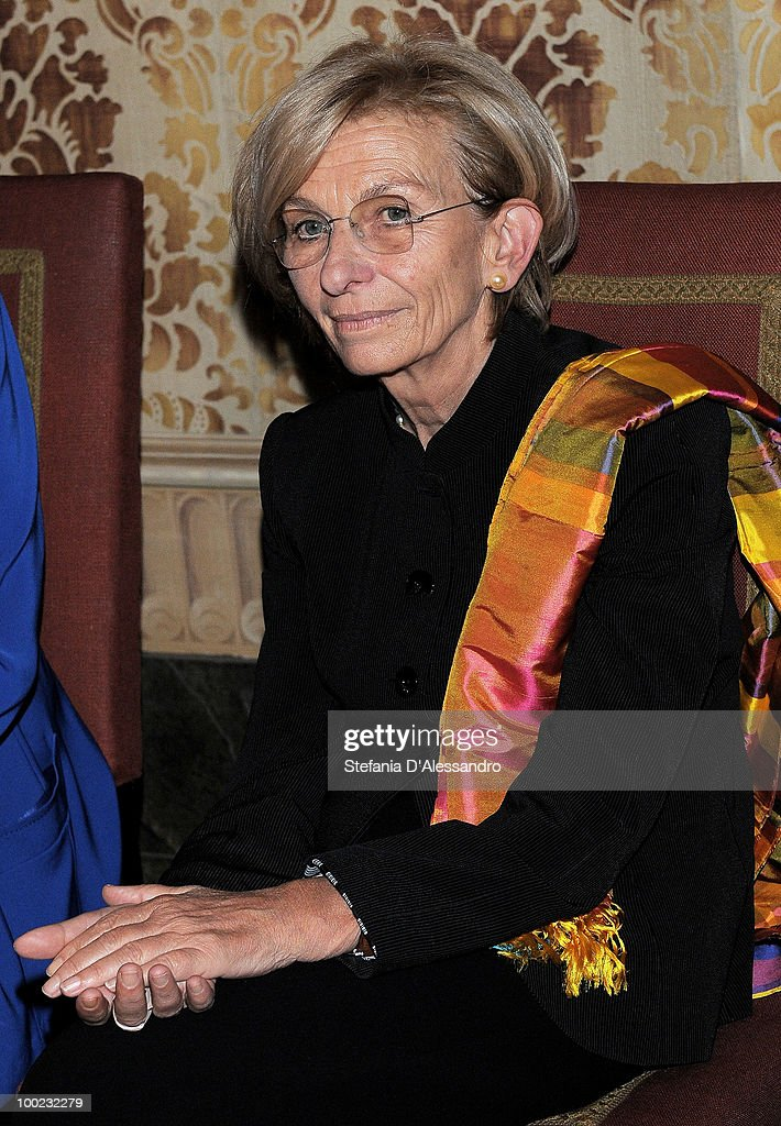 <a gi-track='captionPersonalityLinkClicked' href=/galleries/search?phrase=Emma+Bonino&family=editorial&specificpeople=539913 ng-click='$event.stopPropagation()'>Emma Bonino</a>, Leader of the Italian Radical Party, attends the '2015: Women and Expo' Advisory Board press conference on May 22, 2010 in Milan, Italy. The Advisory Group created to promote projects related to women's issues all over the world, advancing cooperation among different countries and cultures at the same time. The projects will be approved by the scientific committee of the Expo and be consistent with the theme of the Expo 'Feed the Planet, Energy for Life'.