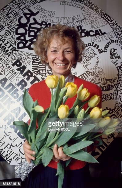 Emma Bonino secrétaire nationale du Parti radical italien en mars 1993 à Rome Italie