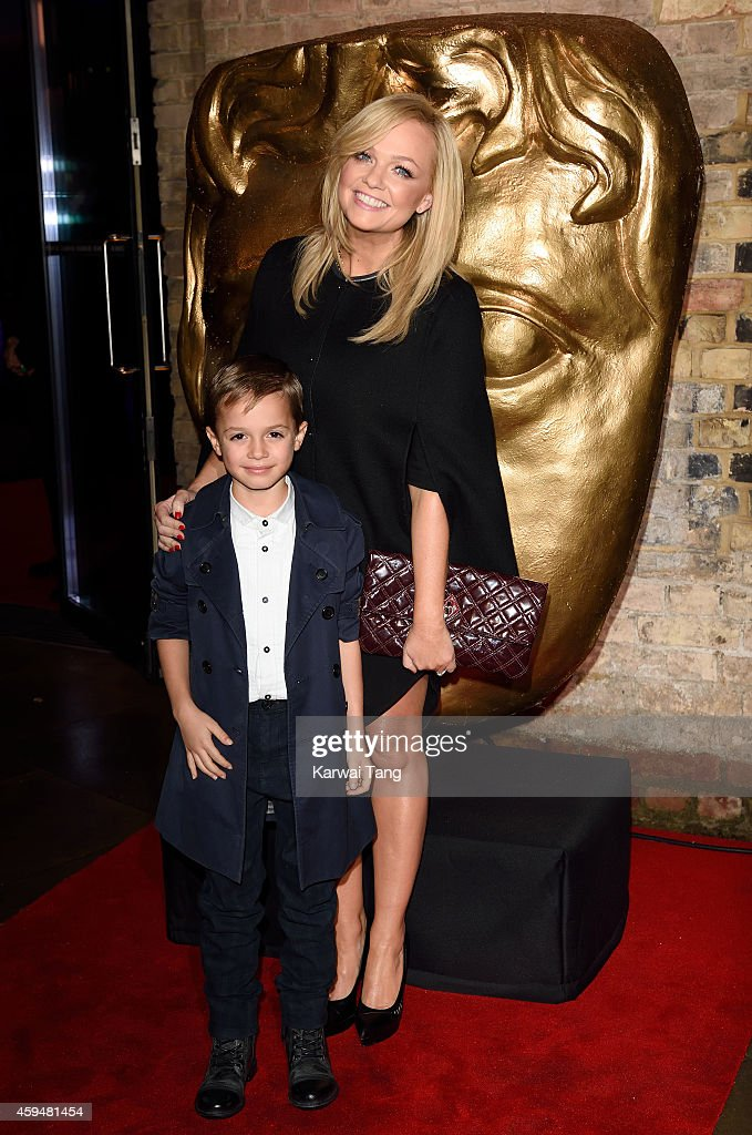 Emma Bunton and Beau Lee Jones attend the BAFTA Academy Children's Awards at the Roundhouse on November 23 2014 in London England