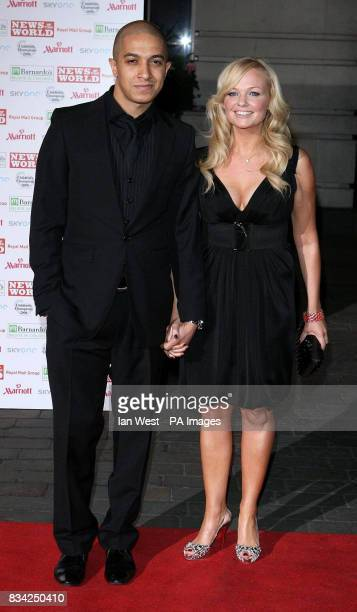 Emma Bunton and boyfriend Jade Jones arrive for the 2008 Childrens Champions Awards at the Renaissance Chancery Court Hotel in London