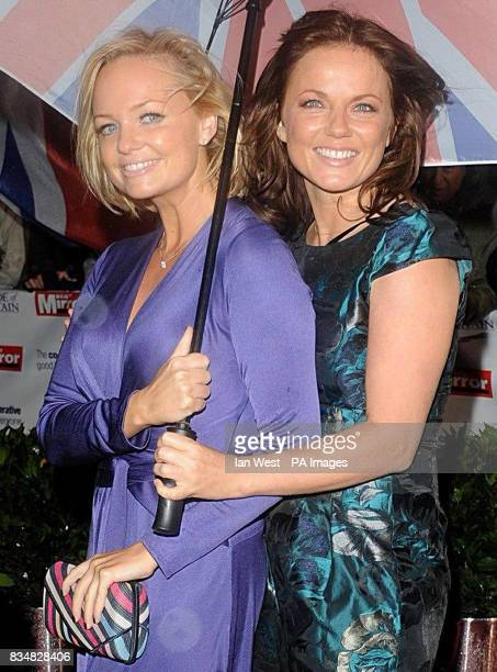 Emma Bunton and Geri Halliwell arrive for The Pride of Britain Awards at the London Television Centre Upper Ground in central London