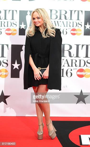 Emma Bunton attends the BRIT Awards 2016 at The O2 Arena on February 24 2016 in London England