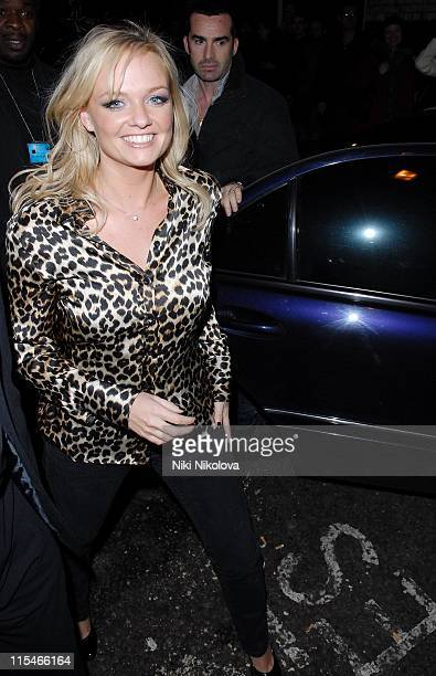 Emma Bunton during Celebrity Sightings at GAY Club 2nd December 2006 at Lilia Kopylova in London Great Britain