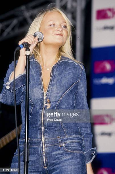 Emma Bunton during Launch of HMV Store at Covent Garden in London Great Britain