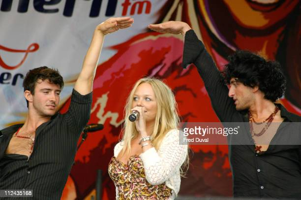 Emma Bunton during Southern FM's 'Party in the Park' Sponsored By O2 Music at Preston Park in Brighton United Kingdom