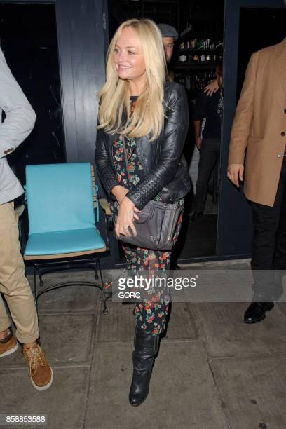 Emma Bunton leaving a restaurant in North London on October 7 2017 in London England