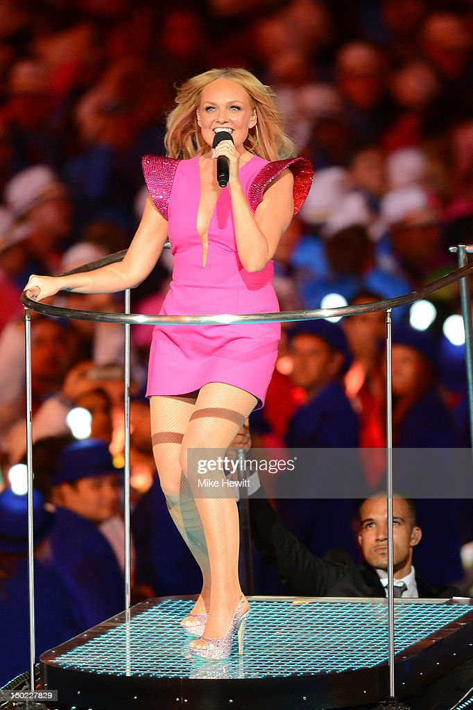 Emma Bunton of Spice Girls performs during the Closing Ceremony on Day 16 of the London 2012 Olympic Games at Olympic Stadium on August 12, 2012 in London, England.