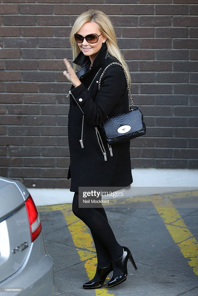 Emma Bunton Sighting In London - January 16, 2013
