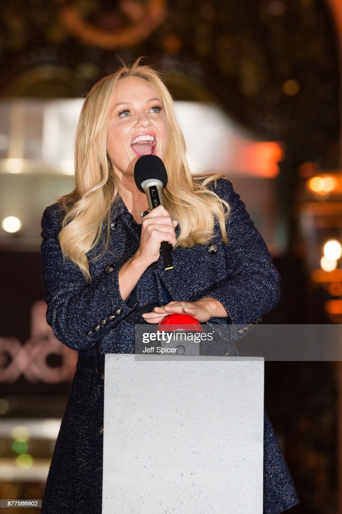 Emma Bunton Switches On The Christmas Lights At The Royal Exchange