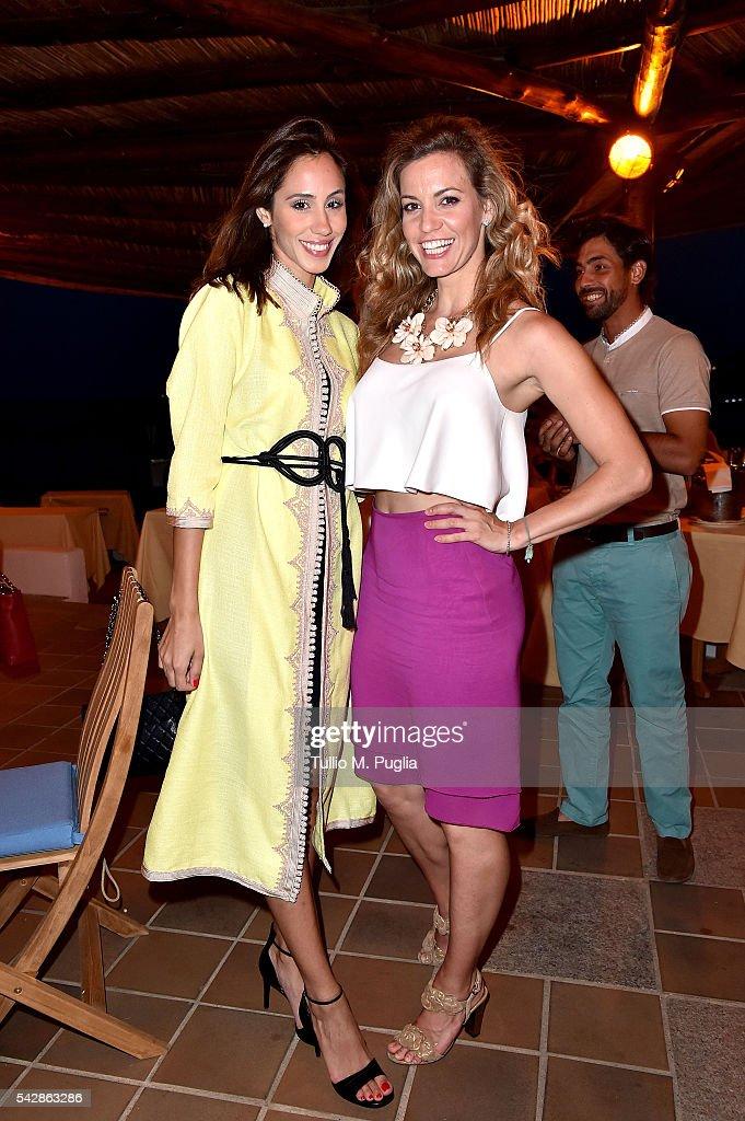 Emma Cabrera Bello and guest attend the Welcome Dinner prior to The Costa Smeralda Invitational golf tournament at Pevero Golf Club - Costa Smeralda on June 24, 2016 in Olbia, Italy.