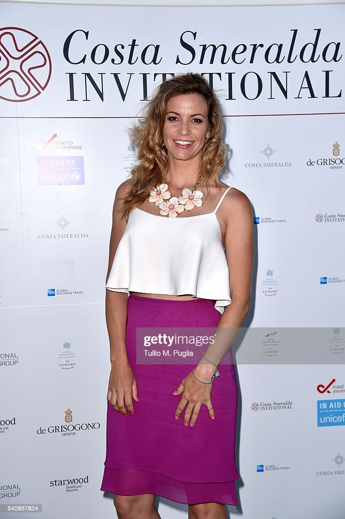 Emma Cabrera Bello attends the Welcome Dinner prior to The Costa Smeralda Invitational golf tournament at Pevero Golf Club - Costa Smeralda on June 24, 2016 in Olbia, Italy.