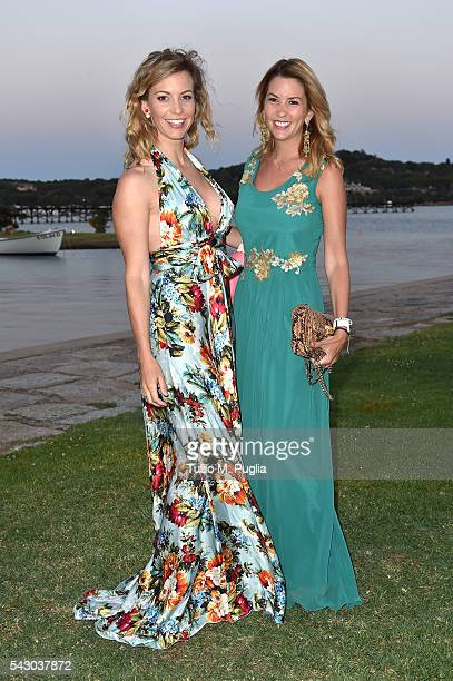 Emma Cabrero Bello and guest attend the Gala Dinner during The Costa Smeralda Invitational golf tournament at Pevero Golf Club Costa Smeralda on June...