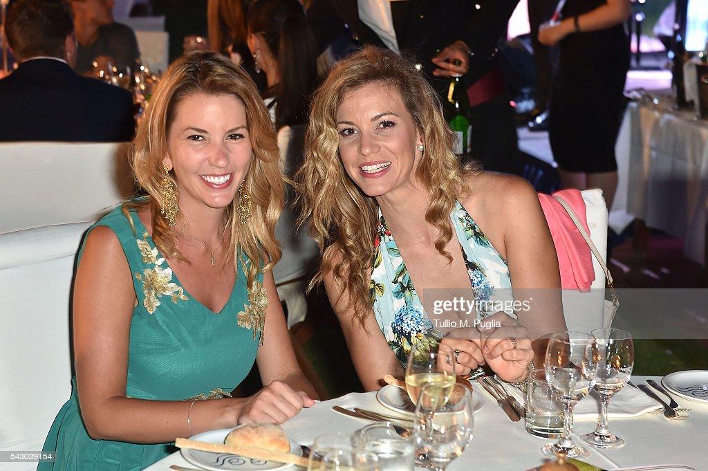 Emma Cabrero Bello (R) and guest attend the Gala Dinner during The Costa Smeralda Invitational golf tournament at Pevero Golf Club - Costa Smeralda on June 25, 2016 in Olbia, Italy.