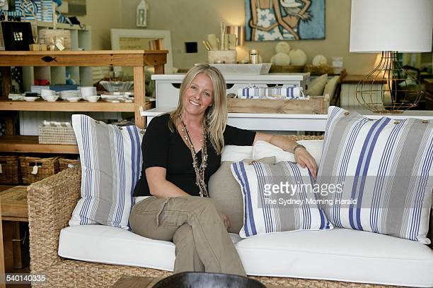 Emma Cameron in her Long Reef homewares store Lotus Living 26 December 2006 SMH Picture by MARCO DEL GRANDE