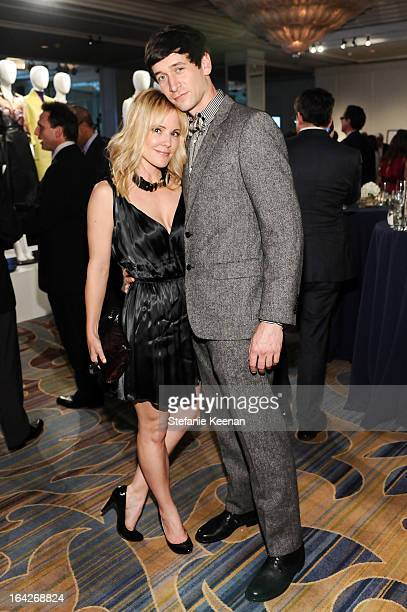 Emma Caulfield and Mark Ford attend An Evening Benefiting The LA Gay Lesbian Center Honoring Amy Pascal and Ralph Rucci on March 21 2013 in Beverly...