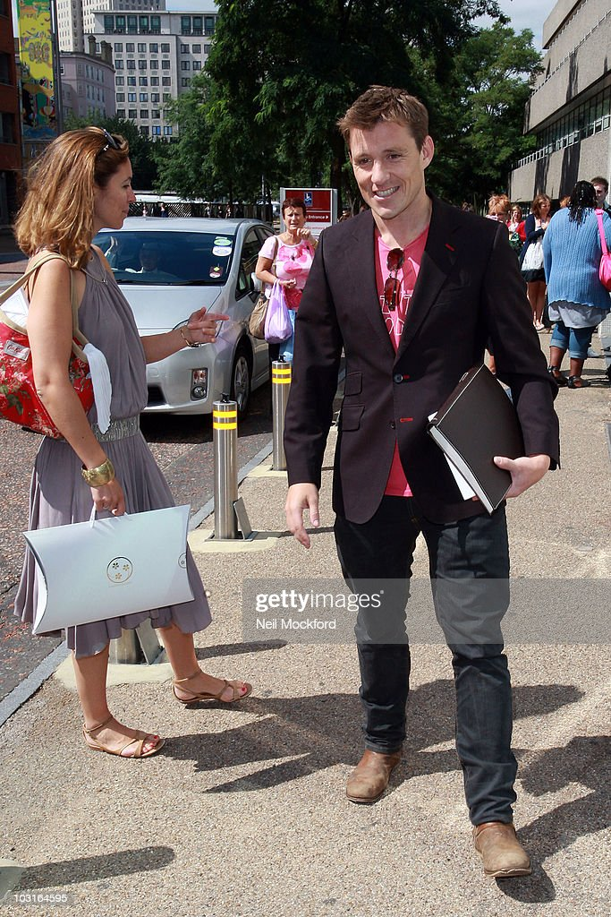 Emma Crosby and Ben Shephard Sighted outside the ITV Studios on his last day of GMTV on July 30 2010 in London England