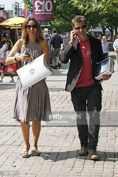 Emma Crosby and Ben Shephard Sighted walking down the Southbank on July 30 2010 in London England