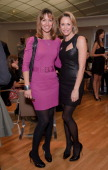 Emma Crosby and Jenni Falconer attend 'Project D' tea party at Harvey Nichols on October 26 2010 in London England