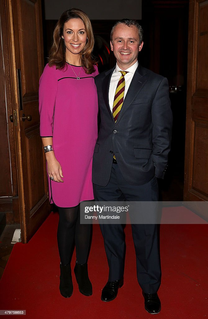 Emma Crosby and Simon Vigar attend the annual Ultimate News Quiz for Action for Children and Restless Development at the London Film Museum on March...