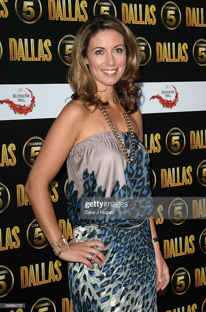 Emma Crosby arrives at the launch party for the new Channel 5 television series of 'Dallas' at Old Billingsgate on August 21, 2012 in London, England.
