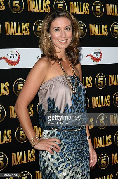 Emma Crosby arrives at the launch party for the new Channel 5 television series of 'Dallas' at Old Billingsgate on August 21 2012 in London England