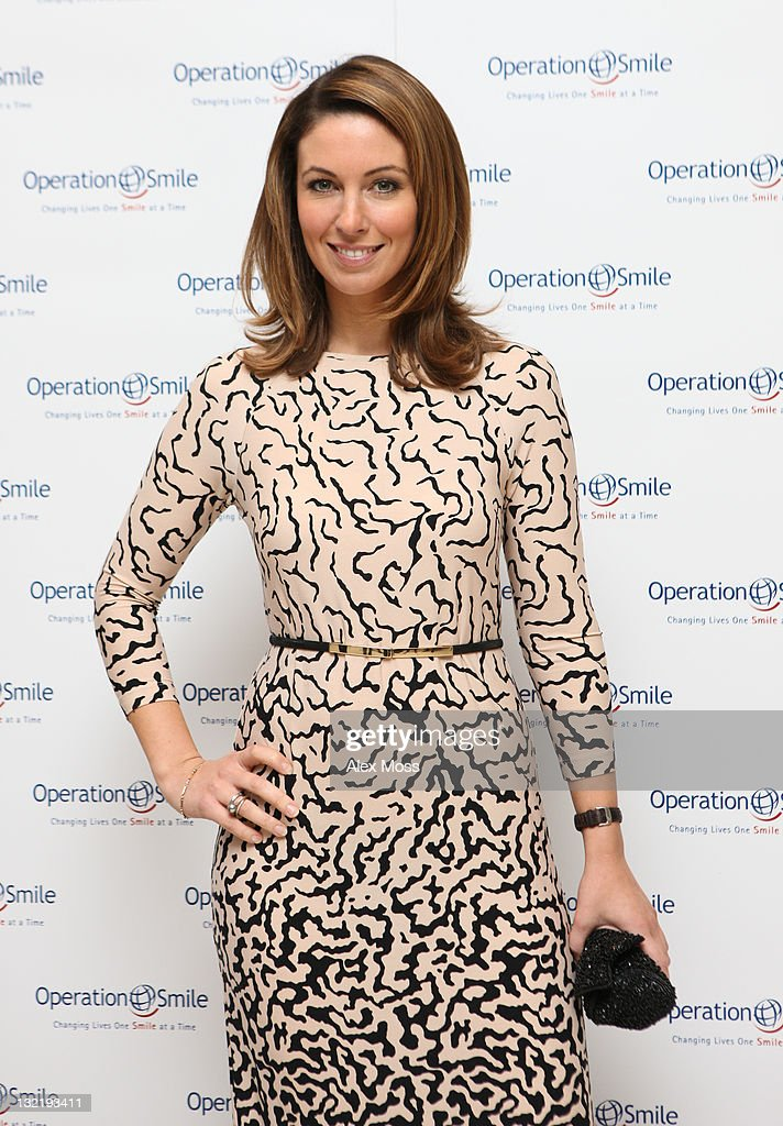 Emma Crosby arrives at the Operation Smile Charity Ball at The Hurlingham Club on November 10 2011 in London England