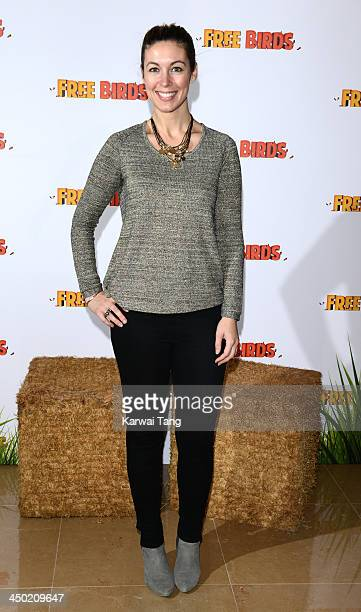 Emma Crosby arrives for the Screening of 'Free Birds' held at the May Fair Hotel on November 17 2013 in London England