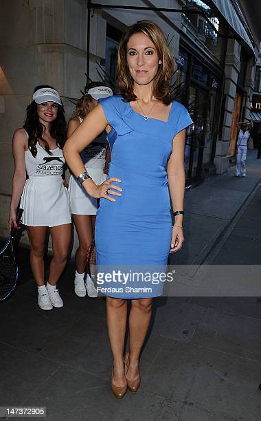 Emma Crosby attends Slazenger's preWimbledon party at Aqua on June 28 2012 in London England