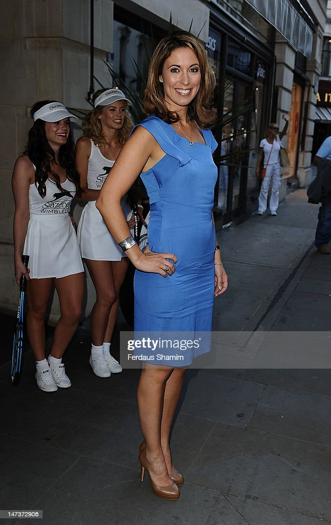 Emma Crosby attends Slazenger's pre-Wimbledon party at Aqua on June 28, 2012 in London, England.