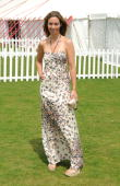 Emma Crosby attends the Cartier International Polo Day at Guards Polo Club on July 25 2010 in Egham England