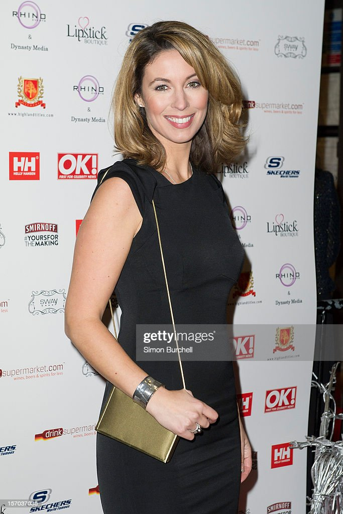 Emma Crosby attends the OK! Magazine Christmas Party at Sway on November 27, 2012 in London, England.