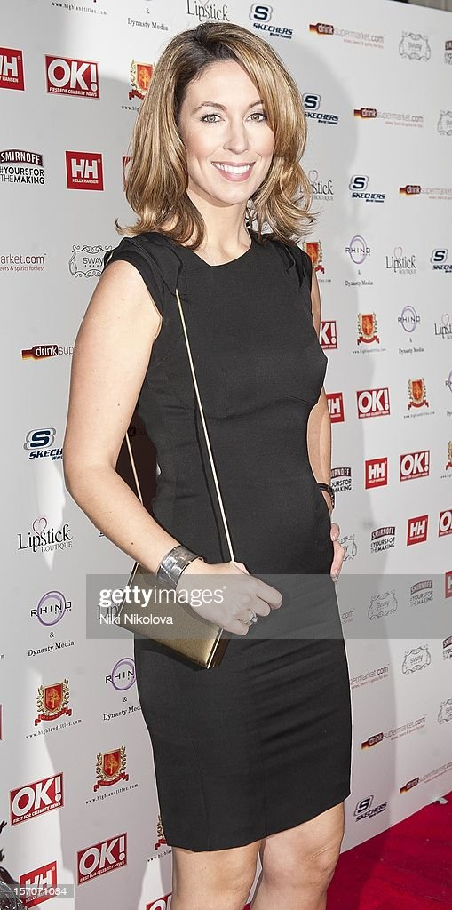 Emma Crosby attends the OK Magazine Christmas Party on November 27 2012 in London England