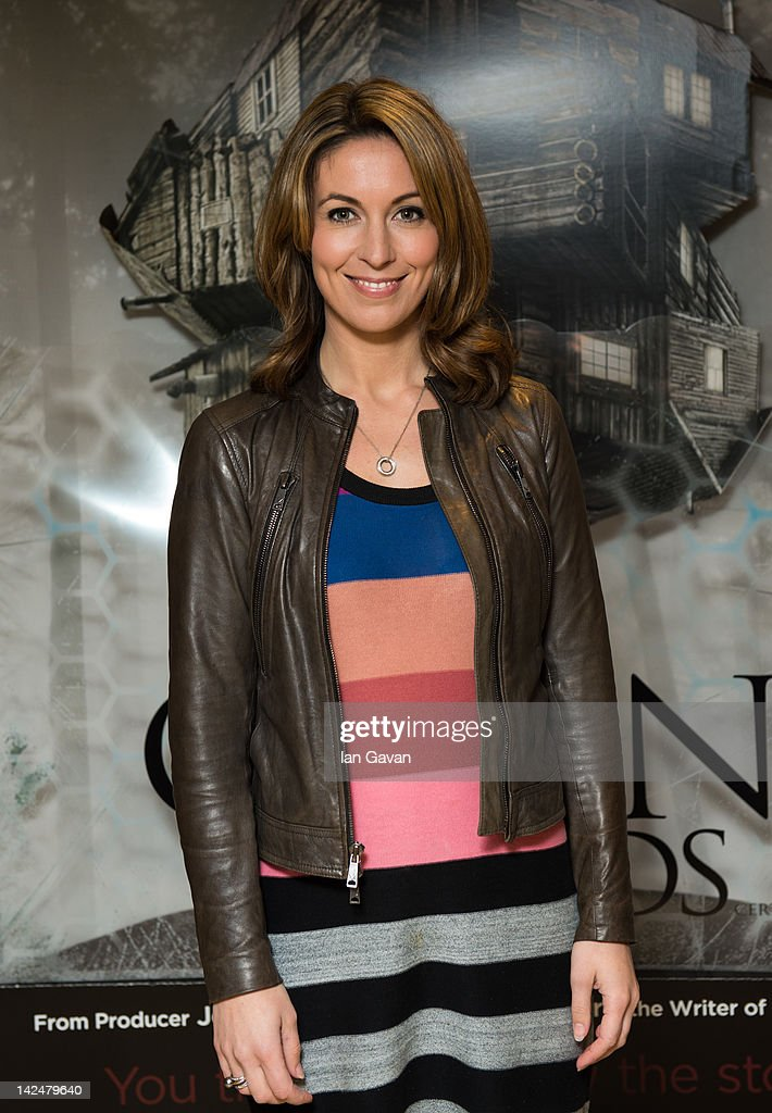 Emma Crosby attends the premiere of 'The Cabin In The Woods' at The Mayfair Hotel on April 5 2012 in London England