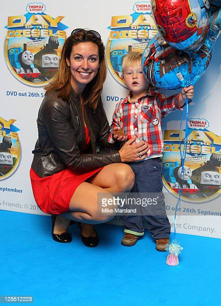 Emma Crosby attends the premiere of 'Thomas Friends Feature Day of the Diesels' at Vue Leicester Square on September 17 2011 in London England