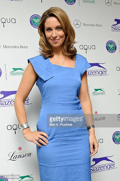 Emma Crosby attends The Slazenger Party 2012 at Aqua on June 28 2012 in London England