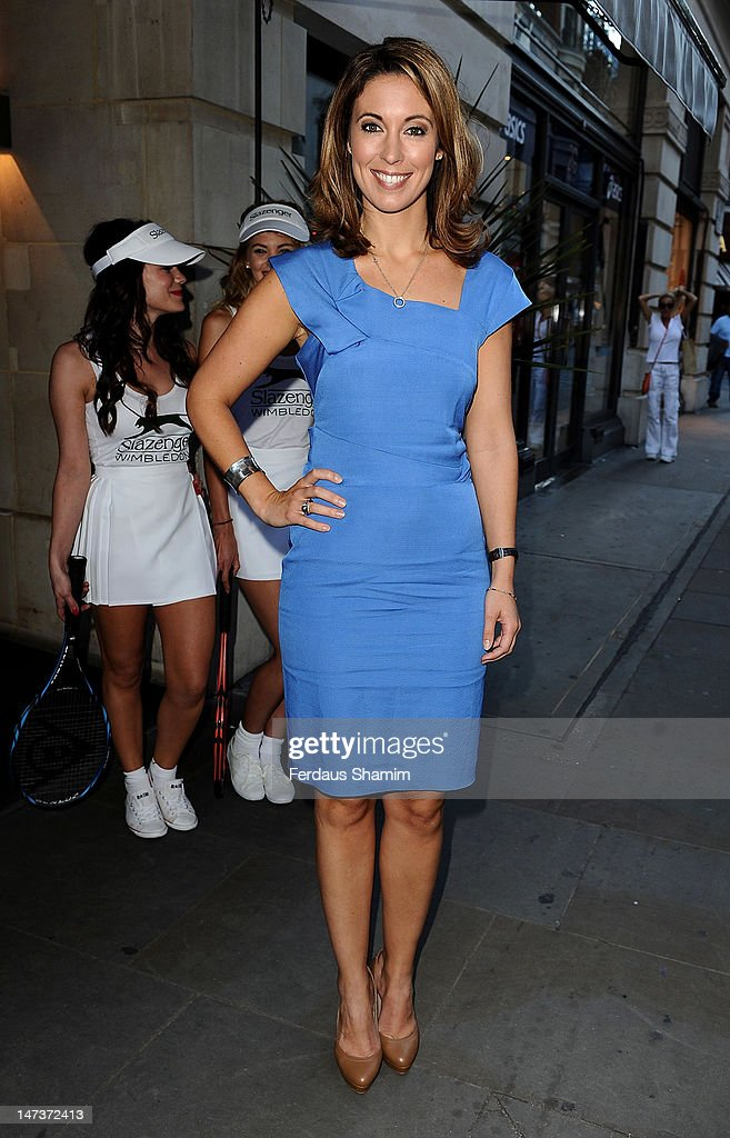 Emma Crosby attends the The Slazenger Party at Aqua on June 28 2012 in London England