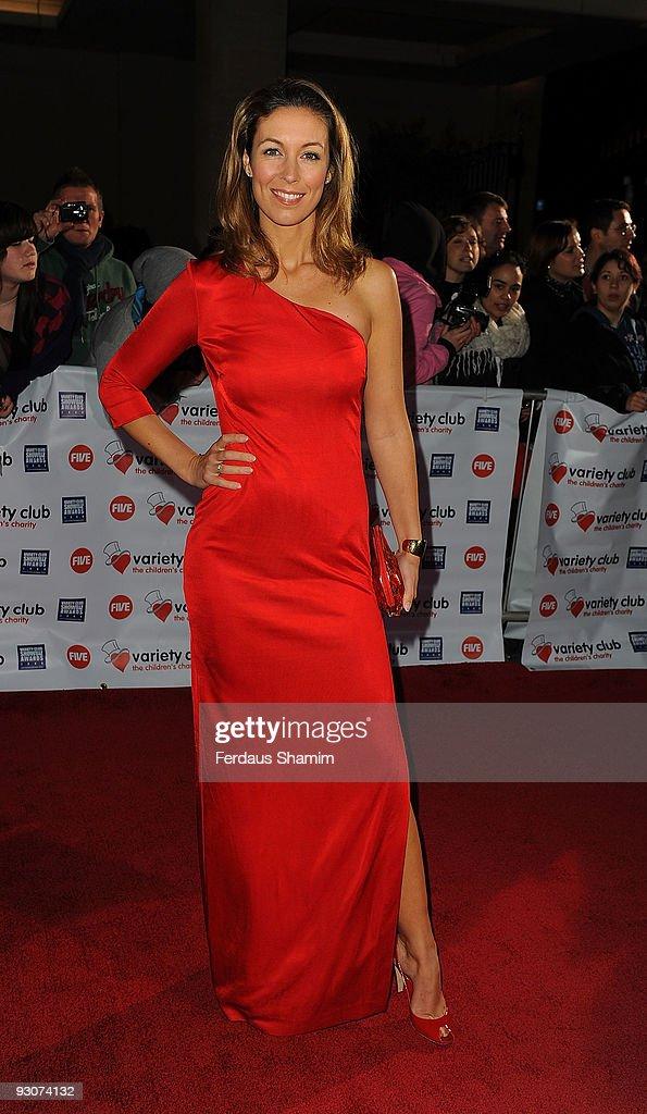 Emma Crosby attends the Variety Club Showbiz Awards at Grosvenor House on November 15 2009 in London England