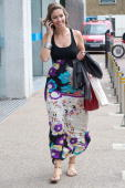 Emma Crosby is seen leaving GMTV on July 2 2010 in London England