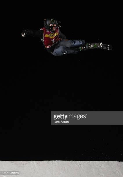 Emma Dahlstrom of Sweden competes during the Ski Big Air Final of the ARAG Big Air Freestyle Festival on December 2 2016 in Moenchengladbach Germany